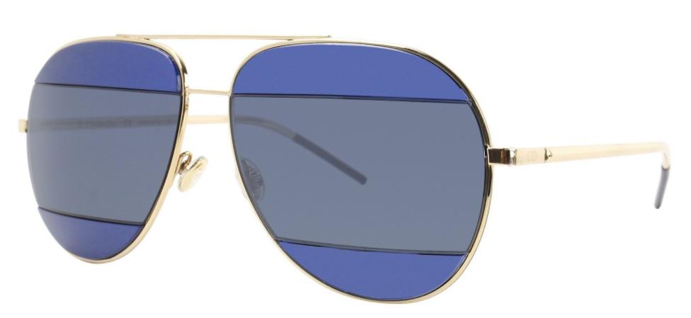 Dior blue mirrored sunglasses