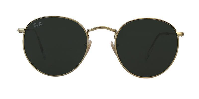 RAY BAN ROUND METAL GOLD - GREEN