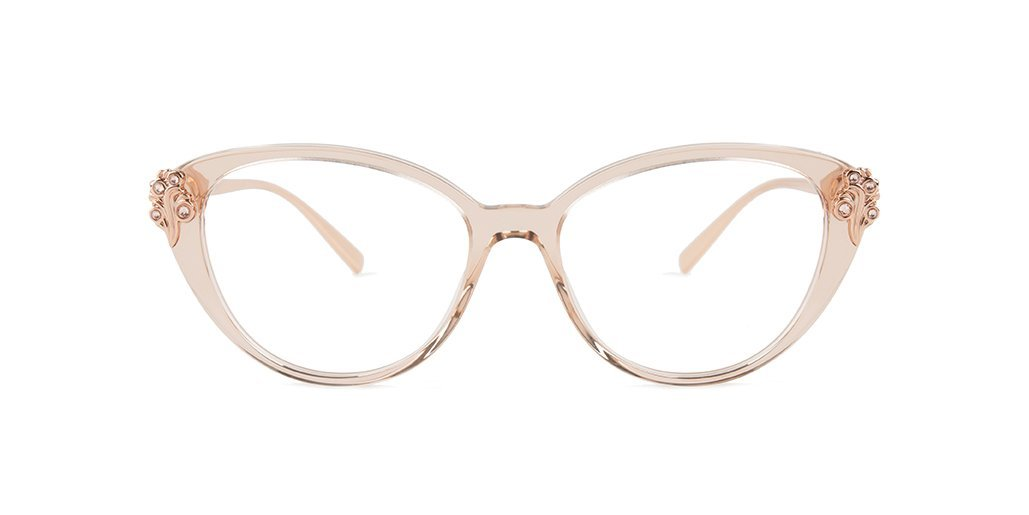 VERSACE VE3262B TRANSPARENT BROWN GOLD STYLE#: 100417