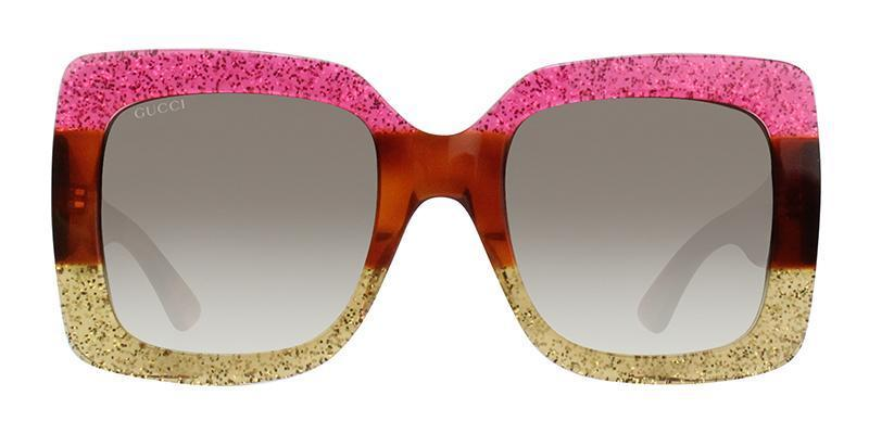 GUCCI GG0083S PINK YELLOW - BROWN