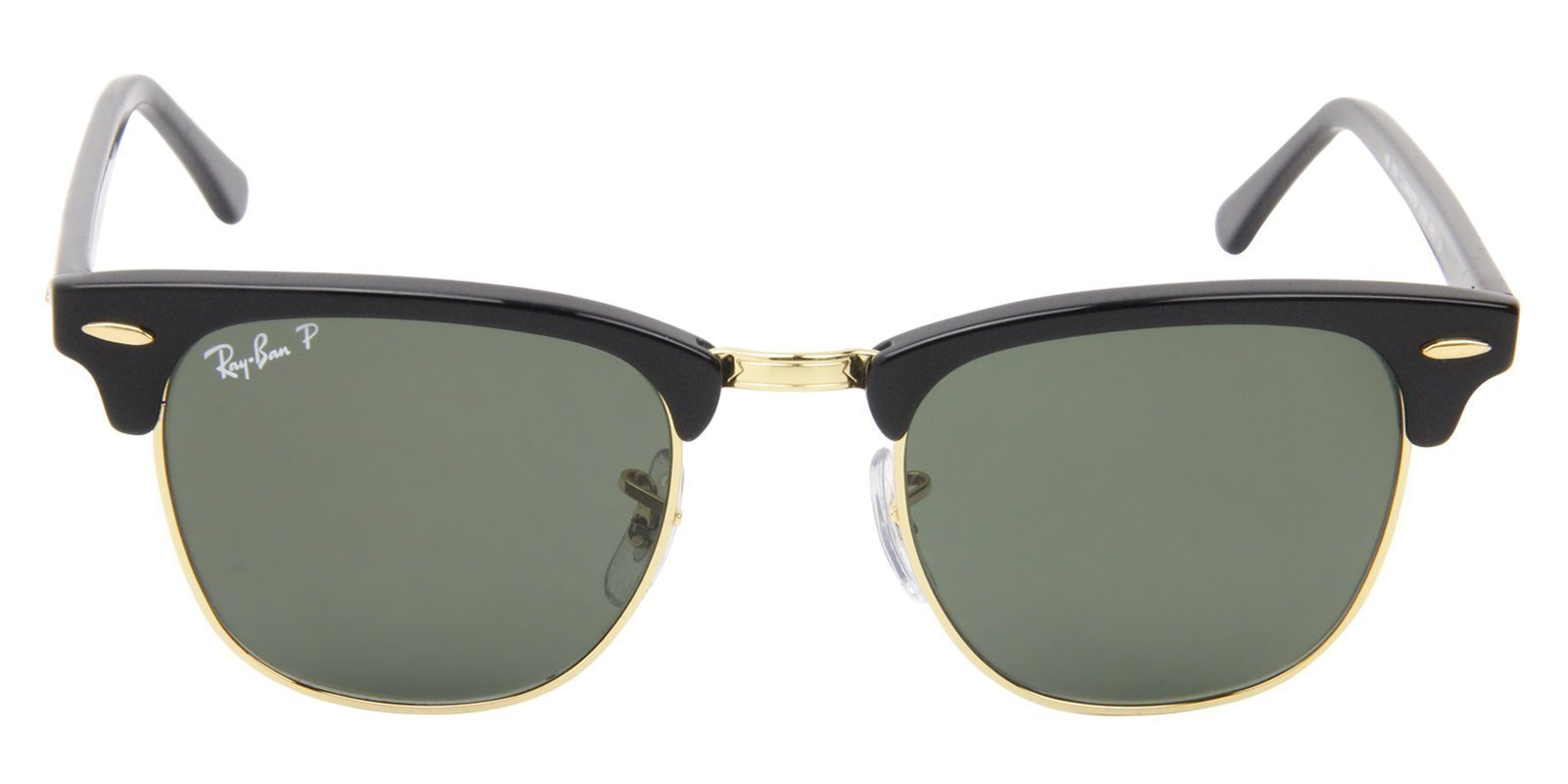 RAY BAN CLUBMASTER BLACK - GREEN