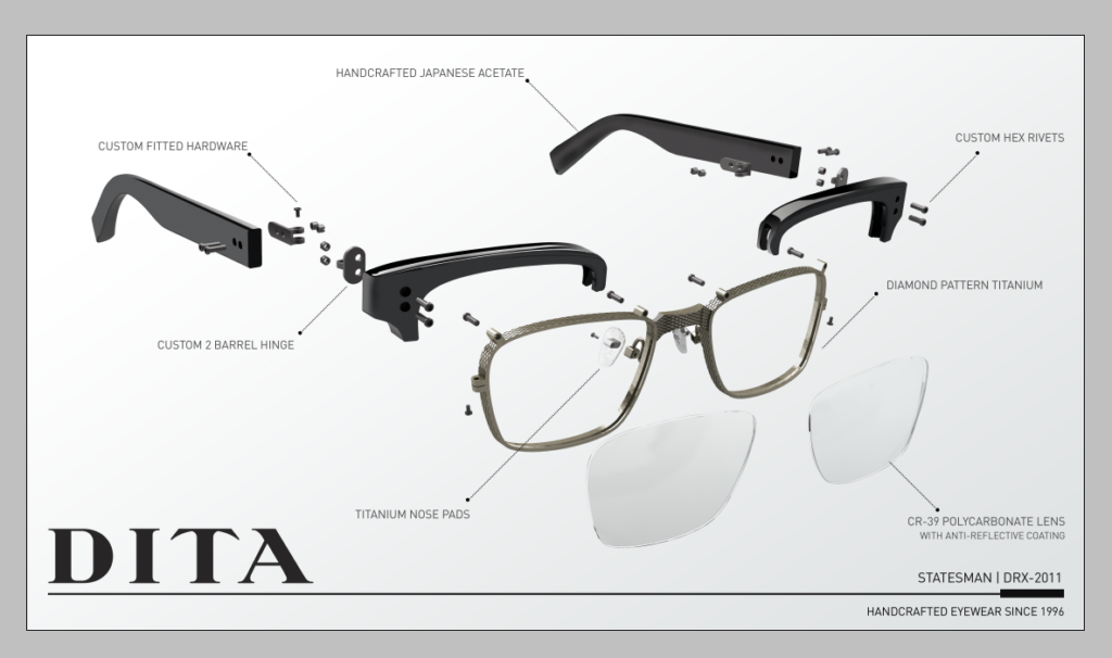 Dita glasses handcrafted in japan