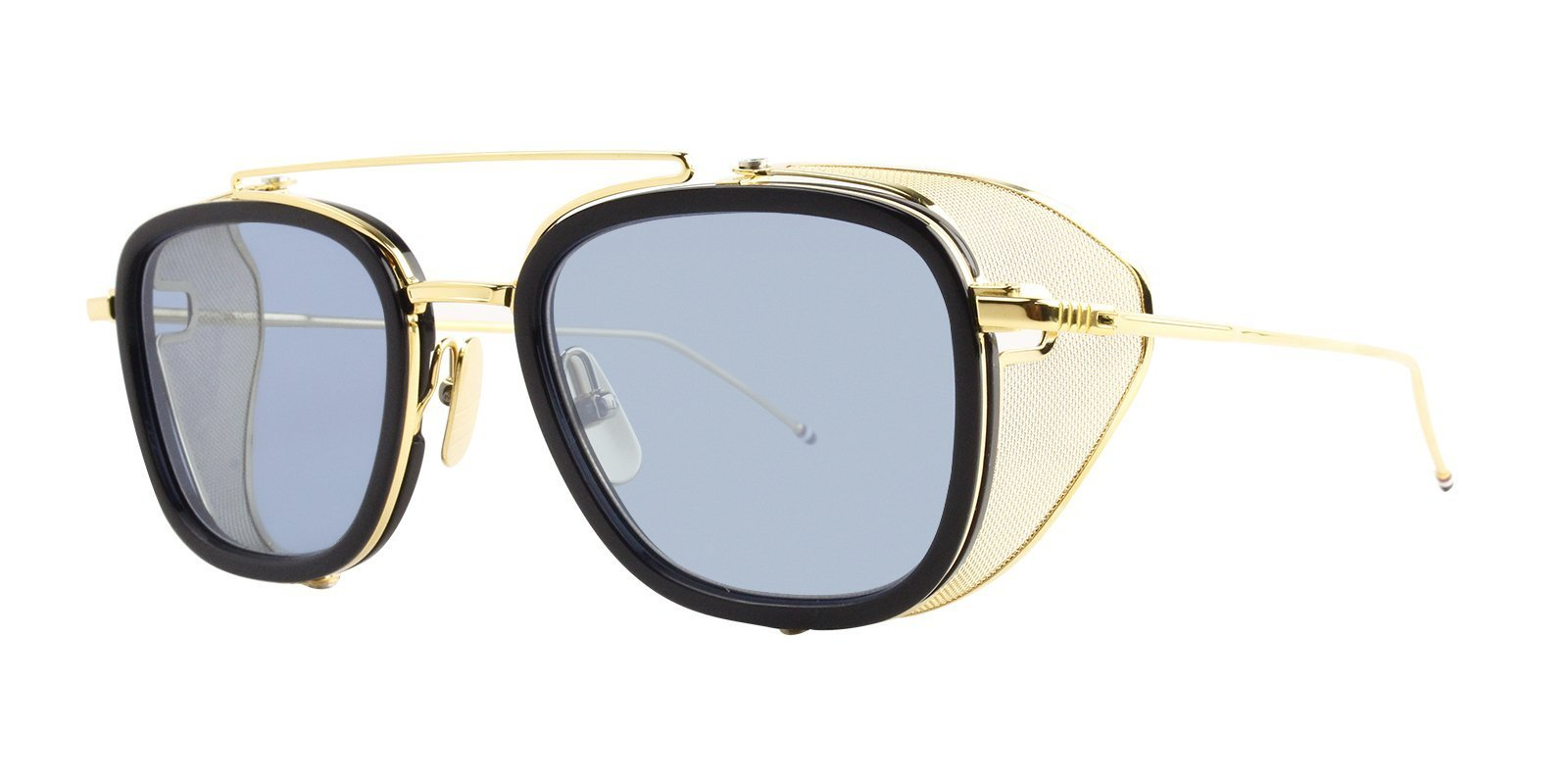 69605087ee thom-browne-sunglasses-thom-browne-tb-808-navy-yellow-gold-dark-blue ...