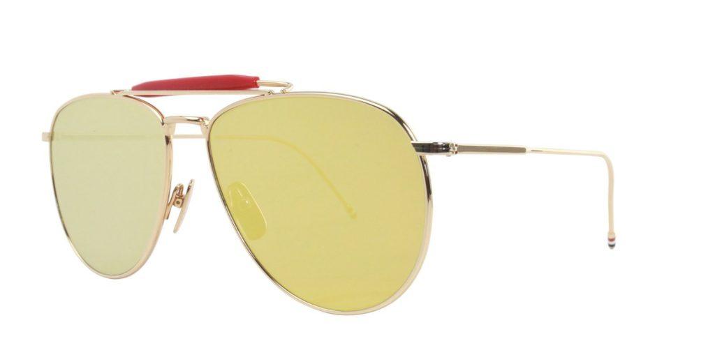 best thom browne aviator sunglasses