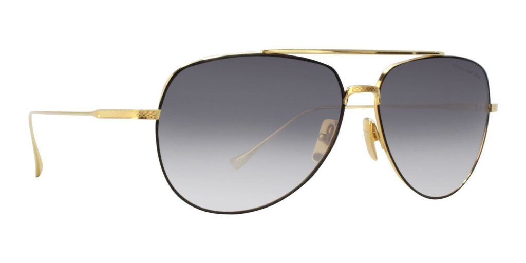 dita flight sunglasses gold